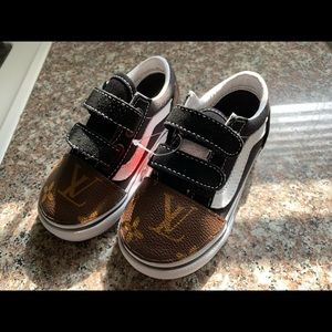 Lv pattern custom kids vans